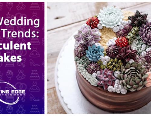 Hot Wedding Cake Trends: Succulent Cakes